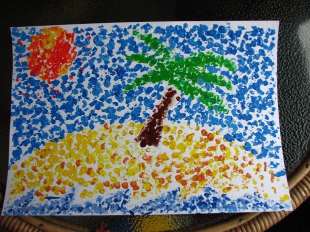 pointallism. Beach Picture
